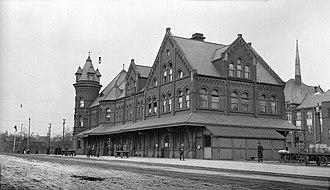 Hearst, Ontario - Railway station, 1917