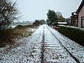 Railway east to Leiston, viewed from level crossing - geograph.org.uk - 1057252.jpg