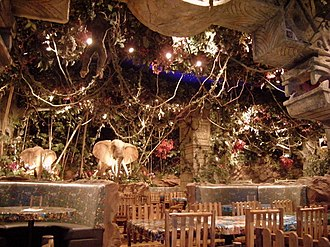 Rainforest Cafe - The interior of the Rainforest Cafe in Dubai Mall, Dubai.