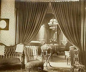Alexander Ramsey House - Ramsey House reception room ca. 1884