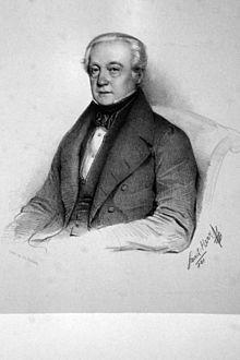 Raphael Georg Kiesewetter, Lithographie von Faustin Herr, 1841 (Quelle: Wikimedia)