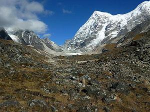 Rathong Glacier - Rathong glacier from Dzongri La (pass)