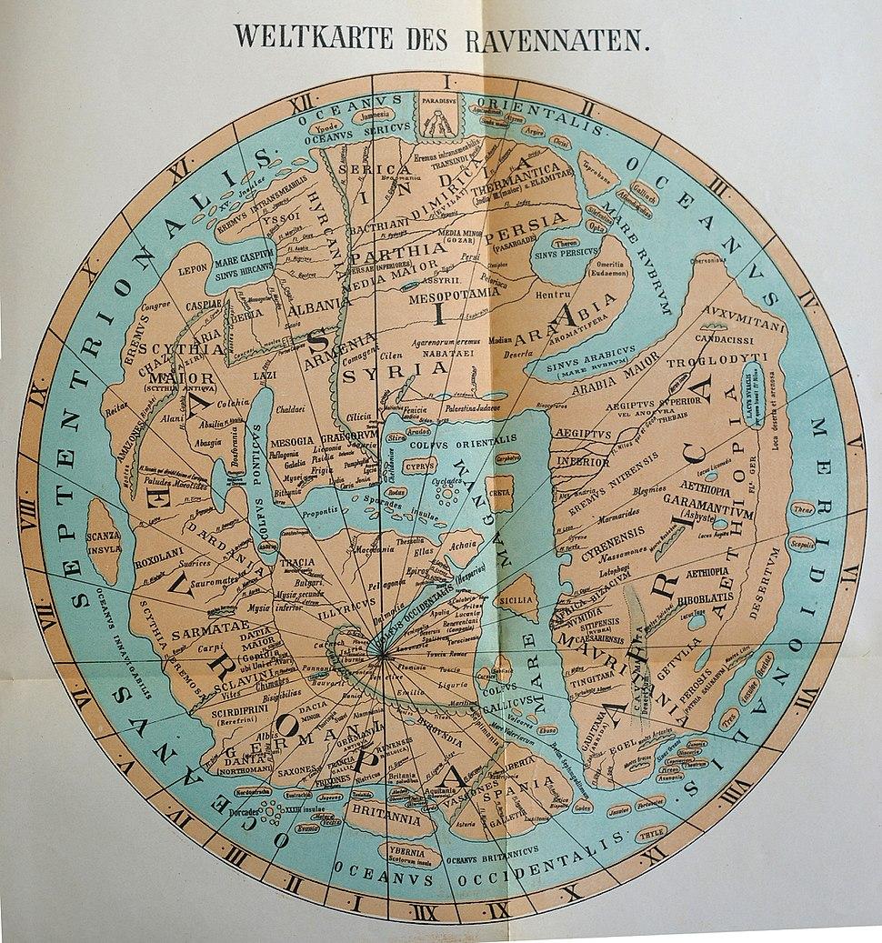 Ravenna mappa mundi, c.650