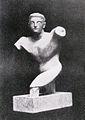 Raymond Duchamp-Villon, 1910, Torse de jeune homme (Torso of a young man), terracotta, Armory Show postcard, published 1913.jpg