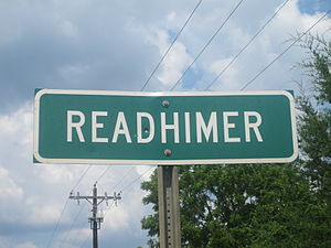 Readhimer, Louisiana - Readhimer road sign