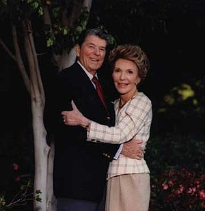 Ronald Reagan Day - Ronald and Nancy Reagan in California after leaving the White House