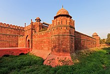 Red sandstone gate of the fortress