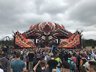 Defqon.1 Festival - The primary stage at Defqon.1, the RED Stage, is the largest stage. (photo from 2018)