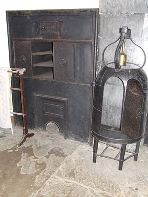 Reflector oven - A reflector oven for cooking game birds, at Stokestown Park House