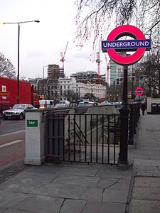 Regent's Park stn entrance look east.JPG