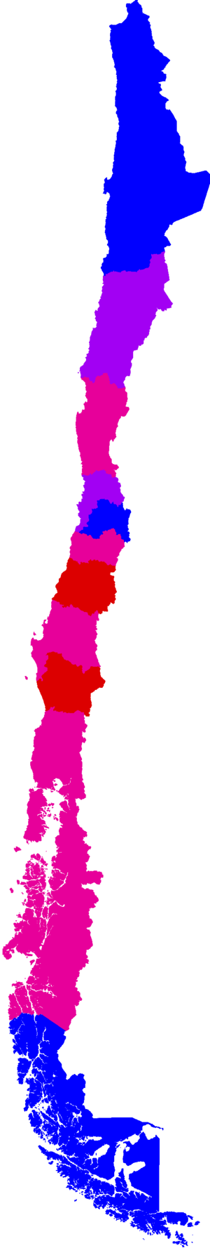 Ranked lists of Chilean regions - Image: Regions of Chile by Human Development Index