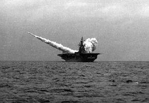 Regulus missile launch from USS Princeton (CVA-37) c1954.JPG