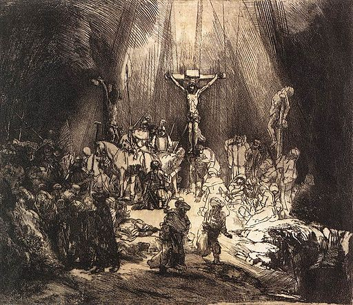 Rembrandt - The Three Crosses (second state) - WGA19086