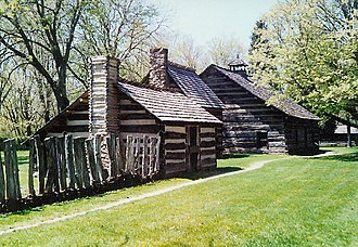 New Philadelphia, Ohio - Reconstructed village of Schoenbrunn