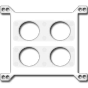 Restrictor plate - Artist rendering of a NASCAR restrictor plate