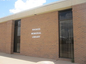Castro County, Texas - Rhoads Memorial Library serves Castro County.