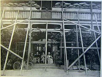 McGregor Museum - Cecil Rhodes posing at the Sanatorium during the Siege of Kimberley