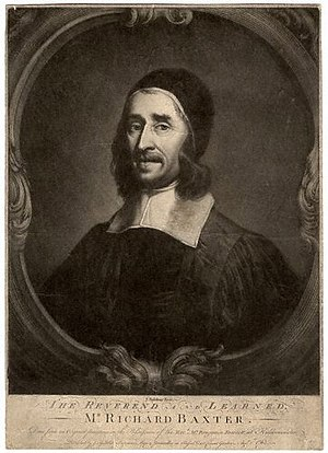 Richard Baxter - 18th-century engraving of Richard Baxter, after a 17th-century portrait by John Riley.
