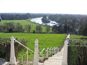 Richmond Hill, London - The south westerly section of the view from Terrace Walk on Richmond Hill