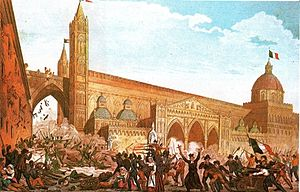 Sicilian revolution of 1848 - The revolution in Palermo (12 January 1848).