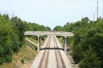 Paxton, Illinois - Paxton has several bridges over the Canadian National (Illinois Central) mainline.