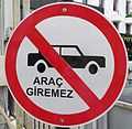 Road sign (North Cyprus).JPG