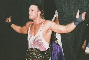 Rob Van Dam - Van Dam as both ECW World Tag Team Champion with Sabu behind him, and ECW World Television Champion.