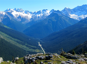 Rogers Pass (British Columbia) - Trans Canada Highway at the top of Rogers Pass