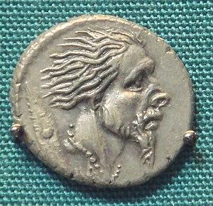 Roman Silver Denarius With Head Of Captive Gau...