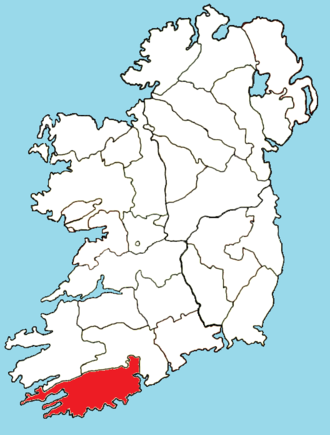 Roman Catholic Diocese of Cork and Ross - Image: Roman Catholic Diocese of Cork and Ross map