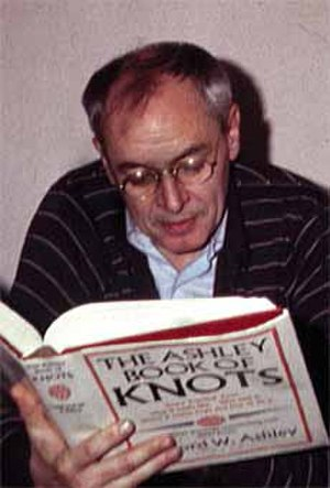 R. D. Laing - Laing in 1983, perusing The Ashley Book of Knots (1944)