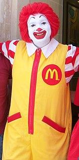 Ronald McDonald Clown mascot of McDonalds