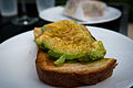 Rosella Coffeeshop Avocado Toast with Cumin - North River District, San Antonio, Texas (2015-03-22 by Nan Palmero).jpg