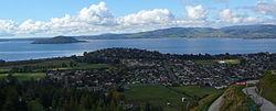 Northern Rotorua, Lake Rotorua, and Mokoia Island.