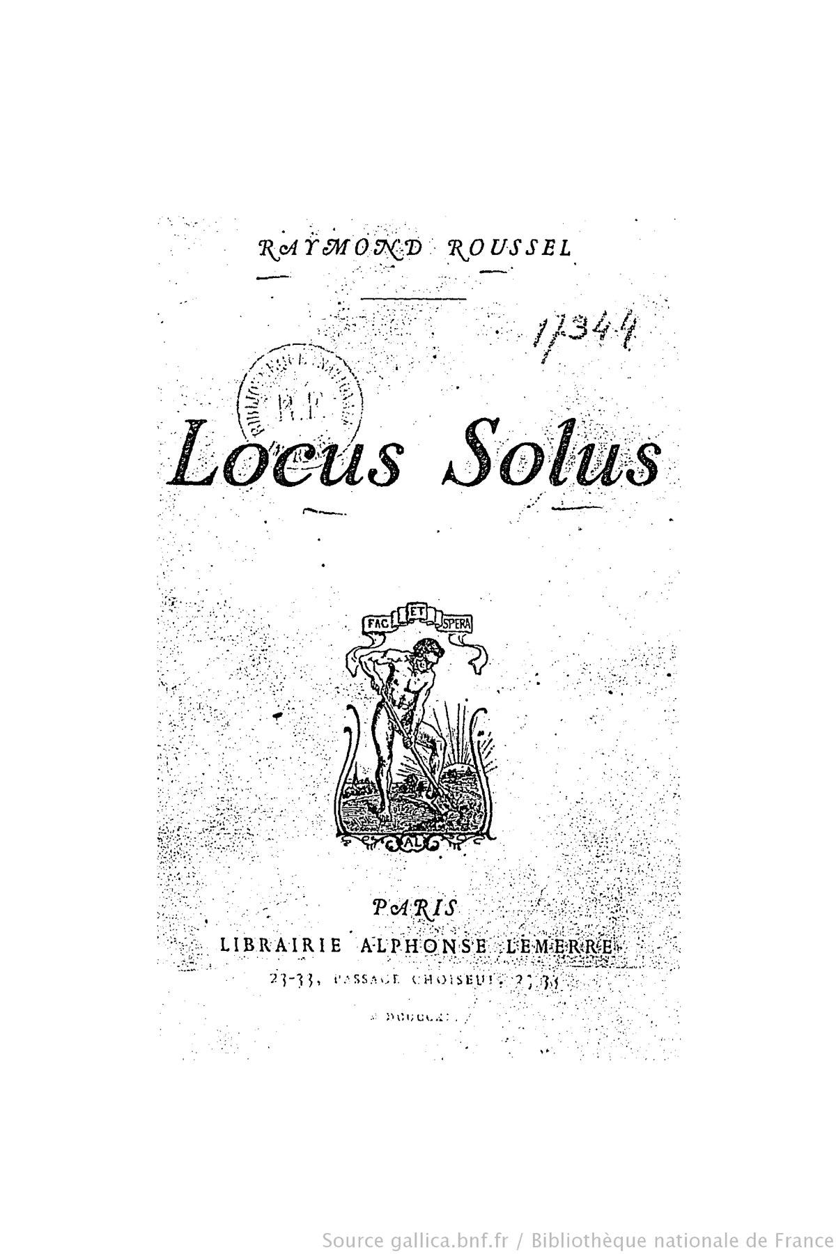 locus solus  roman   u2014 wikip u00e9dia