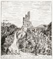 Ruševina Žumberak inace Sichelburg u Hrvsatskoj (Zapadna strana).png
