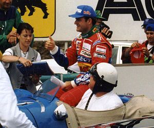 1994 San Marino Grand Prix -  Rubens Barrichello crashed heavily at Variante Bassa during the first qualifying session on Friday.