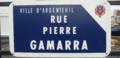 Rue Pierre Gamarra, Argenteuil, quartier d'Orgemont.png