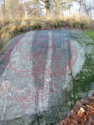 Lidingö Municipality - Image: Runic inscription Kvarnbacken Lidingo SWE
