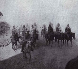 Battle of Mukden - Russian Cavalry under Reconnaissance Mission during the Battle of Mukden