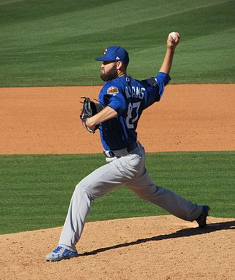 Chicago Cubs minor league players - Williams pitching for the Chicago Cubs during Spring Training 2017