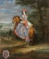 Ryttarporträtt på Madame La Duchesse De Bouillon, 1670-tal - Skoklosters slott - 100374.tif