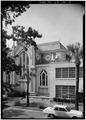 SOUTH SIDE AND EAST REAR - Mickve Israel Synagogue, 428 Bull Street, Savannah, Chatham County, GA HABS GA,26-SAV,76-3.tif