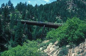 Florence and Cripple Creek Railroad - Florence and Cripple Creek Railroad bridge in Phantom Canyon