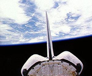 STS-38 - Atlantis in orbit.