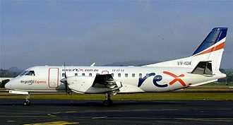 Regional Express Airlines - Saab 340A at Burnie Airport in August 2007