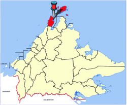 Location of Kudat