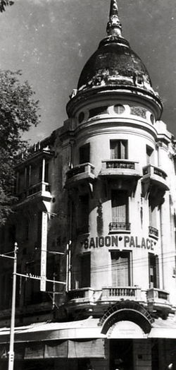 Façade du Saïgon-Palace (vers 1940) (Actuel Grand Hôtel)