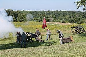 Battle of Sailor's Creek - Reenactors engage in a recreation of the battle, 2013