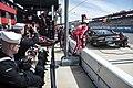 Sailors observe a NASCAR pit crew during the race. (40913265452).jpg